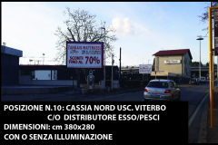 N.10 380x280 Cassia Nord usc. Viterbo